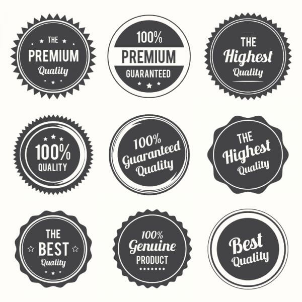 Set of retro labels and and badges vector