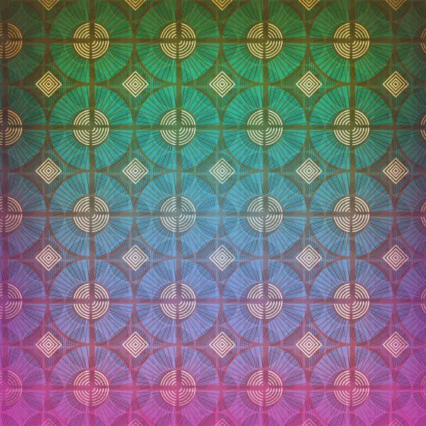 Geometric vintage pattern vector