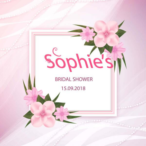 Realistic floral card for wedding vector