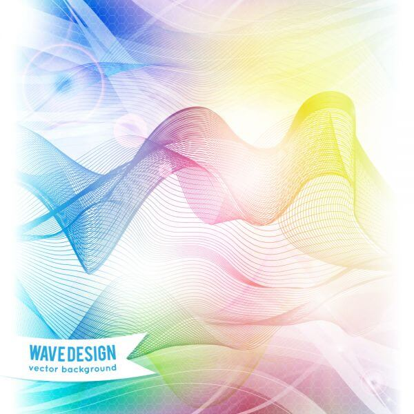 Abstract rainbow wave background vector