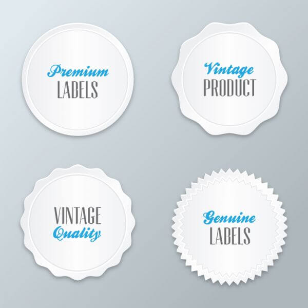 Set of modern labels, badges vector
