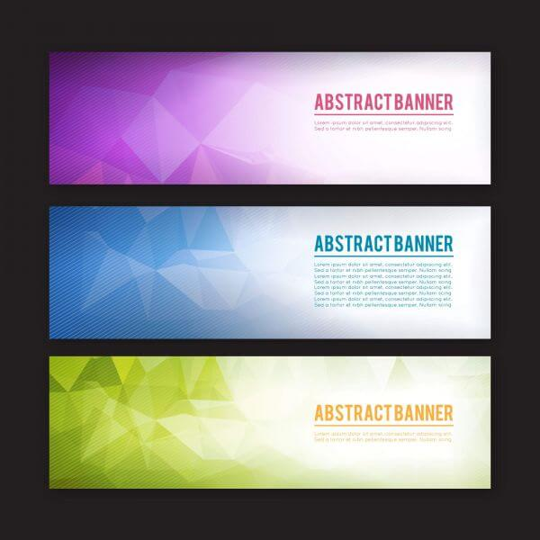 Set of banners with different design elements vector