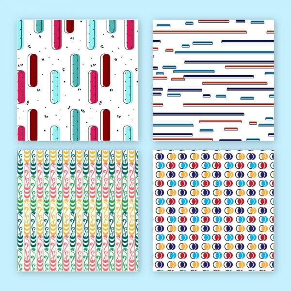 Creative vector seamless patterns vector