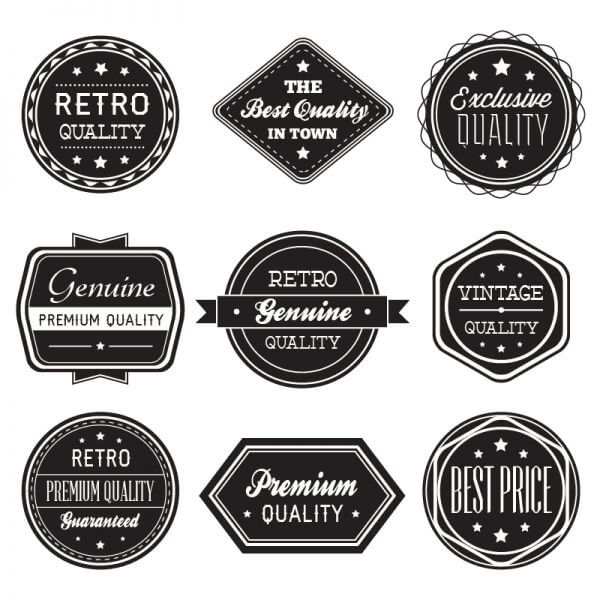 Set of vintage retro labels,ribbons vector