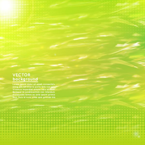 Abstract wavy green modern background design vector