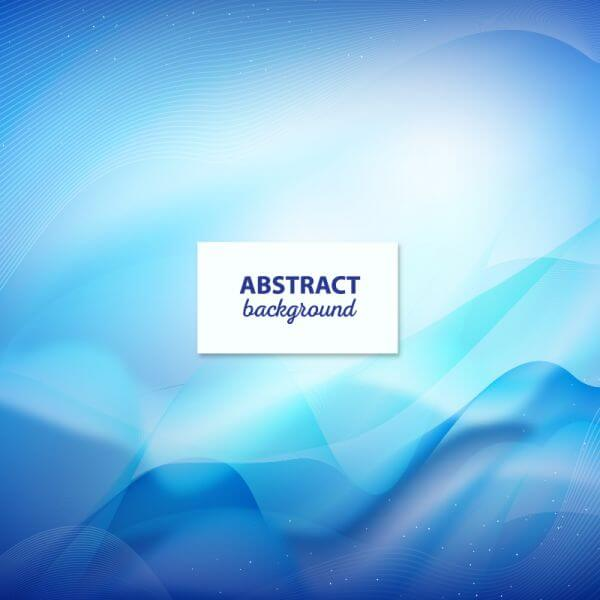 Blue abstract wavy modern background design vector