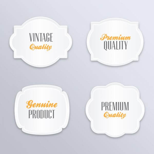 Labels in vintage style vector