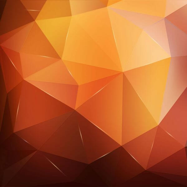 Abstract orange geometric background vector