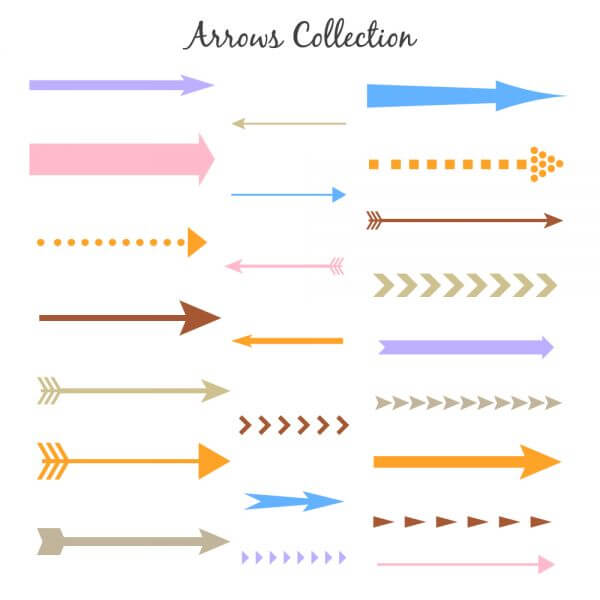 Set of colorful vector arrows vector