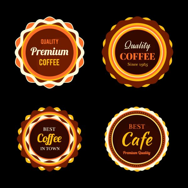 Set of coffee retro vintage badges and labels vector