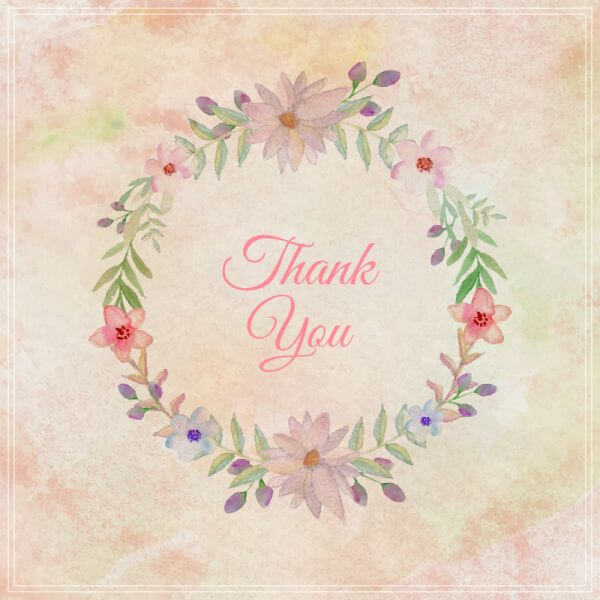Watercolor vintage floral greeting card. Watercolor flowers frame vector
