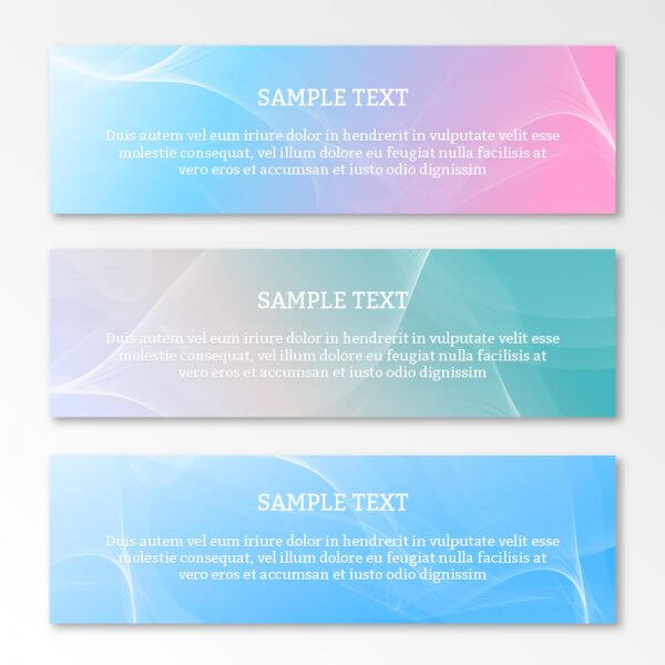 Abstract waves banner or header vector