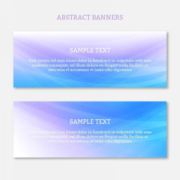 Abstract web banners set with waves design vector