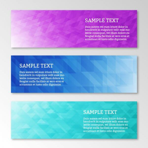 Abstract business geometric banners set vector