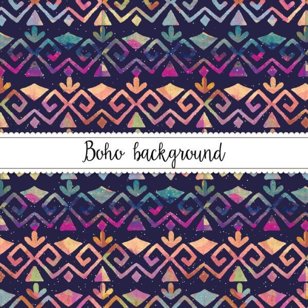 Watercolor Boho Pattern vector