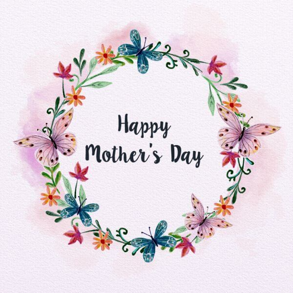 Watercolor Mother's Day Card vector