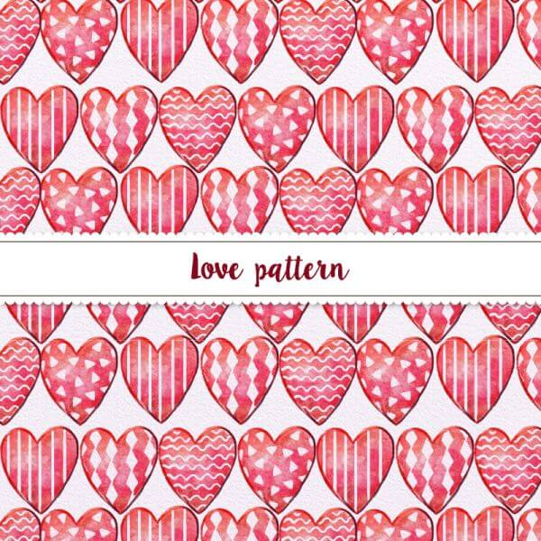 Hand-drawn Doodle Seamless Pattern With Hearts vector