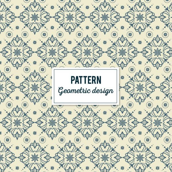 Creative Floral Geometric Pattern vector