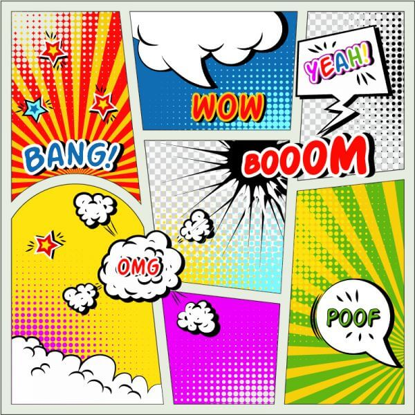 Comic book elements vector