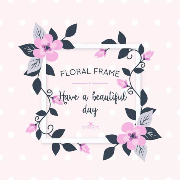 Floral card with flowers vector