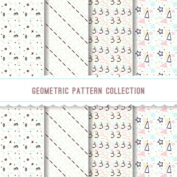 Geometric pattern collection vector
