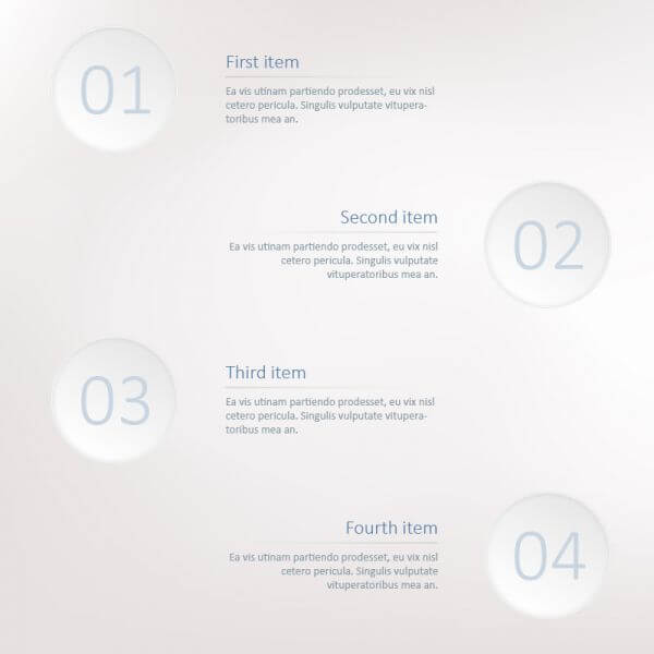 Infographic steps template vector