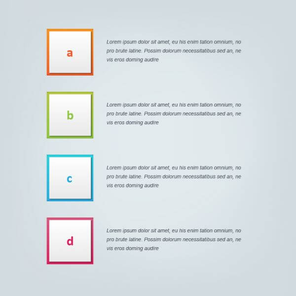 Infographic vector design for workflow, steps vector