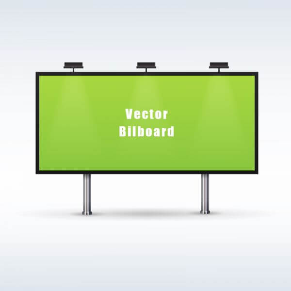 Outdoor billboard advertising vector