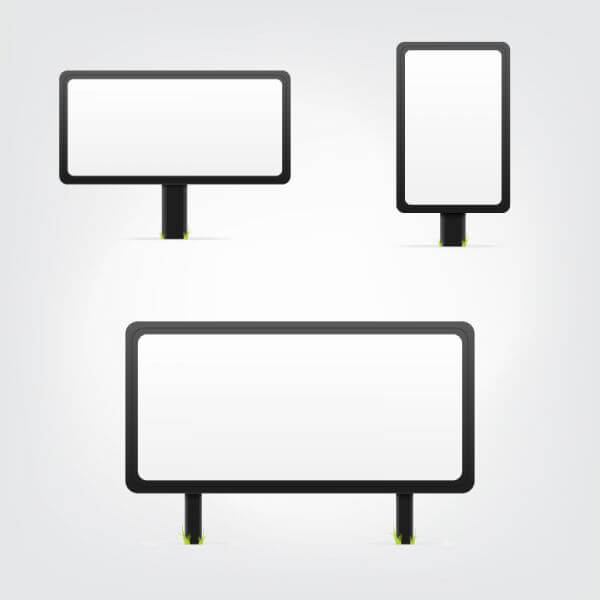 White Bilboards Set vector