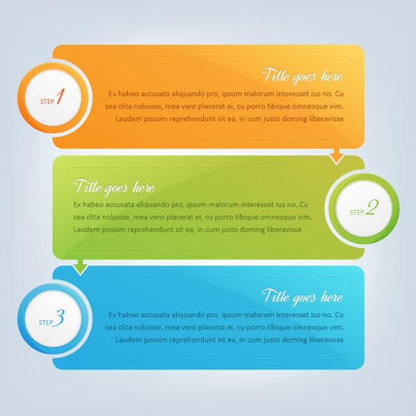 Banners, infographic steps design  vector