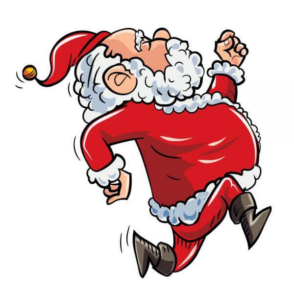 Running Santa vector