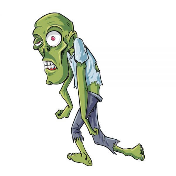 Twisted zombie character vector