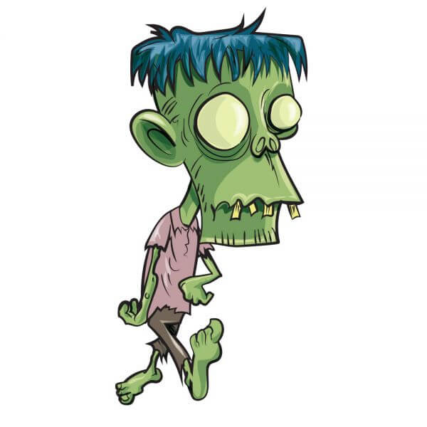 Zombie with big head vector