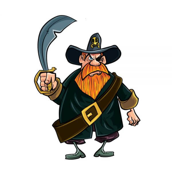 Pirate with knife vector