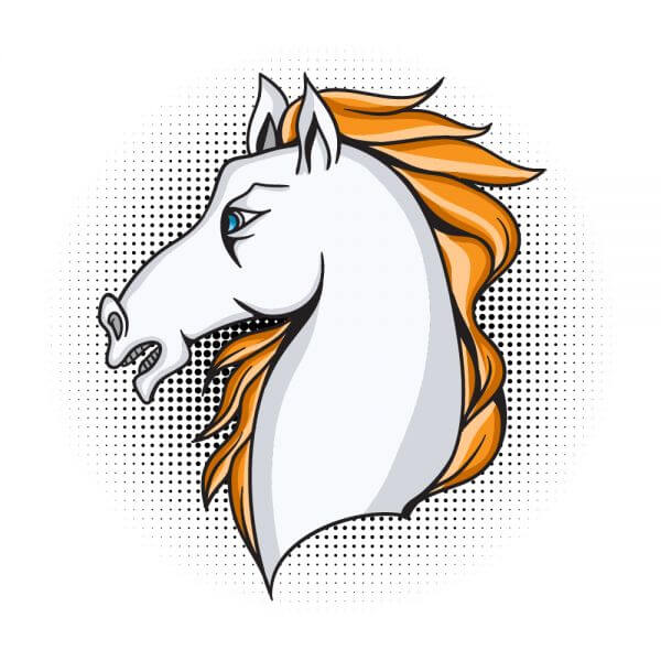 Cartoon vector horse vector