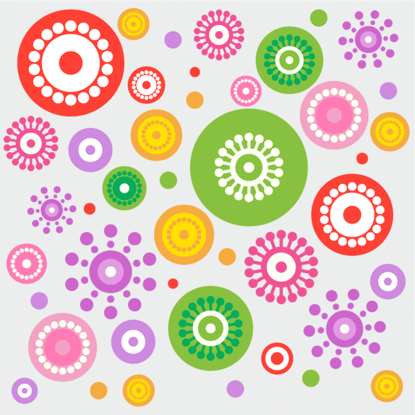 Spring cheerful flowers vector