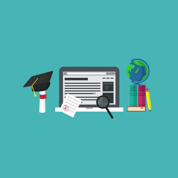 Education and learning tools vector