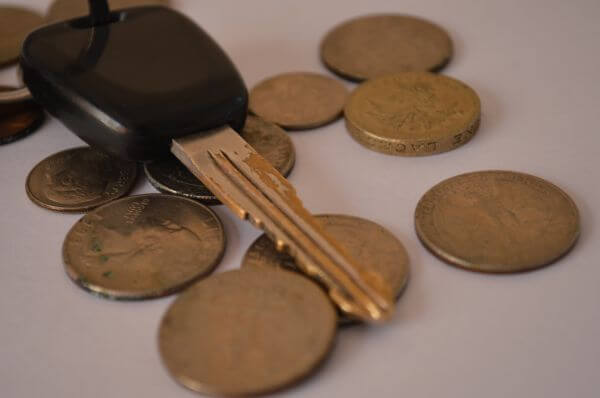 Car Keys With Coins photo