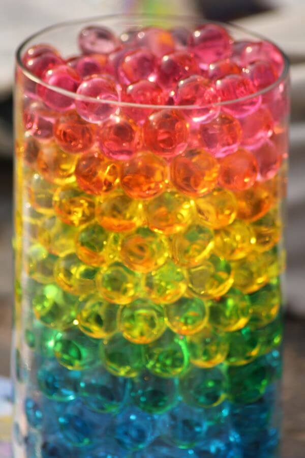 Colored Beads Balls In Glass photo