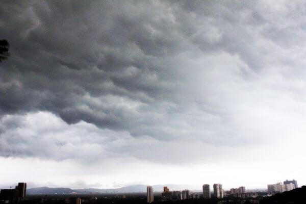Dark Storm Clouds City photo