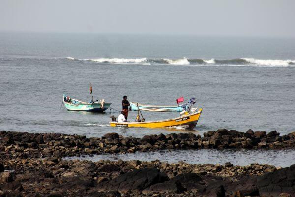 Fisherman Boat Sea Waves photo
