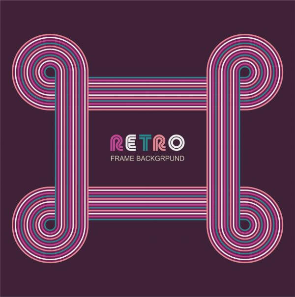 Retro frame background vector