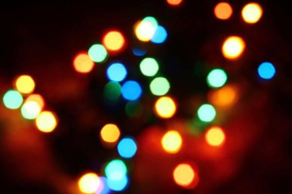 Night Lights Blurry Orbs photo