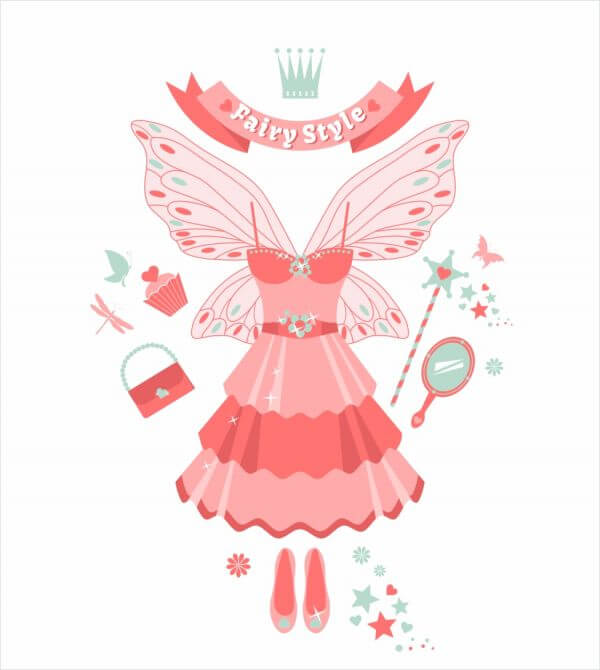 Fairy set. vector