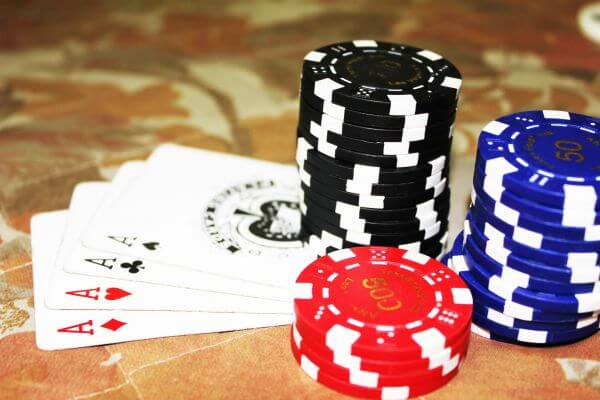 Poker Cards Aces Chips photo