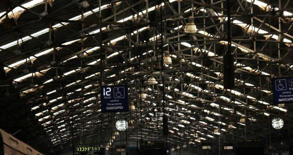 Railway Station Handicap Sign photo