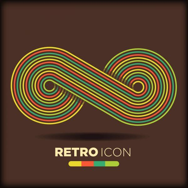 Retro icon background vector