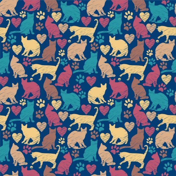 Seamless pattern of cats vector