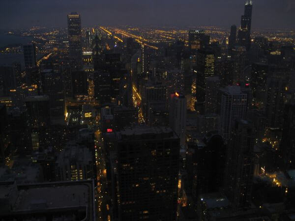 Chicago City At Night photo