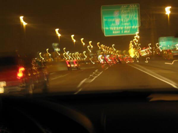 Driving Fast Night photo